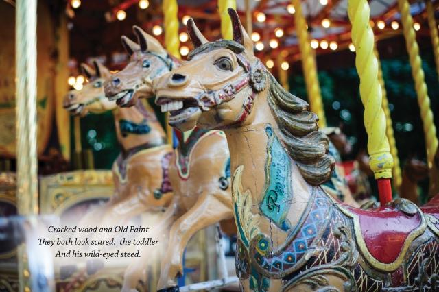 Carousel ponies haiku