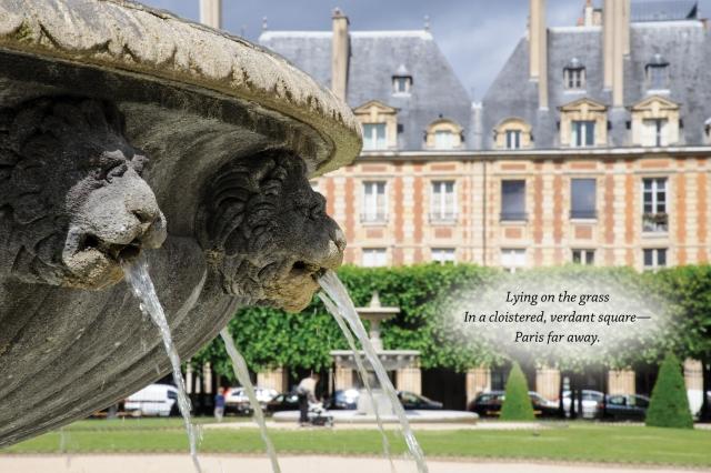 Haiku Place des Vosges