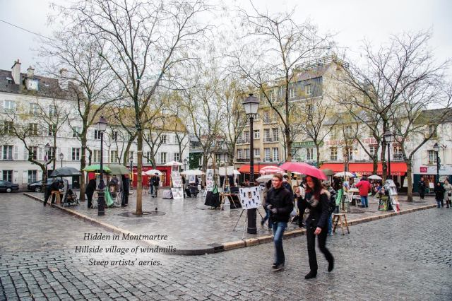 haiku monmartre rain